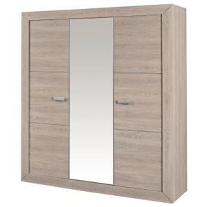 armoire 3 portes sarlat meubles pas cher. Black Bedroom Furniture Sets. Home Design Ideas