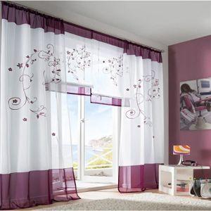voile rideaux salle a manger achat vente voile rideaux. Black Bedroom Furniture Sets. Home Design Ideas