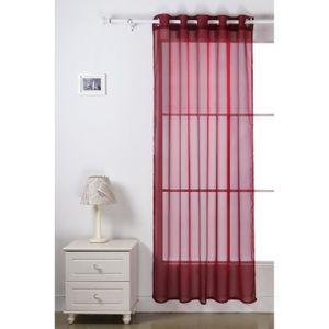 rideaux voilage sur mesure achat vente rideaux voilage sur mesure pas cher cdiscount. Black Bedroom Furniture Sets. Home Design Ideas