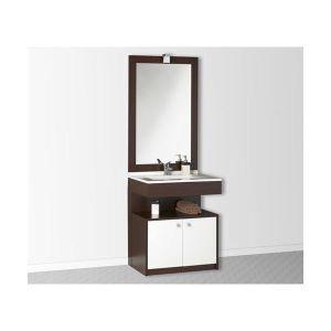 Meuble sous lavabo marron achat vente meuble sous - Salle de bain pmr ...