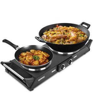 Duronic hp2bk table de cuisson avec plaques en fonte d for Plaque de cuisson en inox