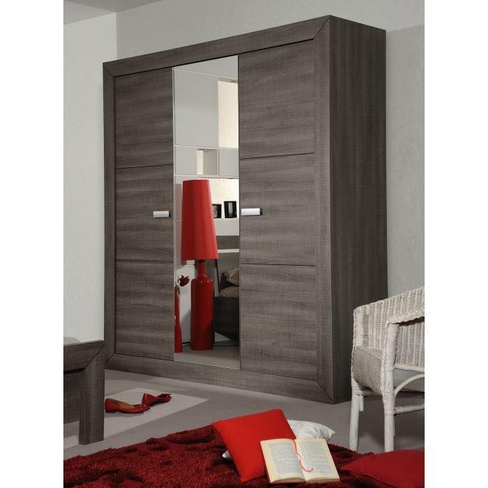 Avignon armoire 3 portes coloris bois gris achat vente for Meubles kilkenny