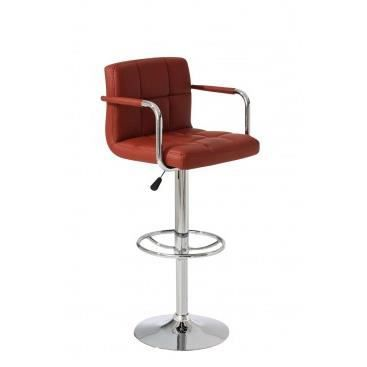 fauteuil de bar avec accoudoirs riccarda cognac achat vente fauteuil m tal simili. Black Bedroom Furniture Sets. Home Design Ideas