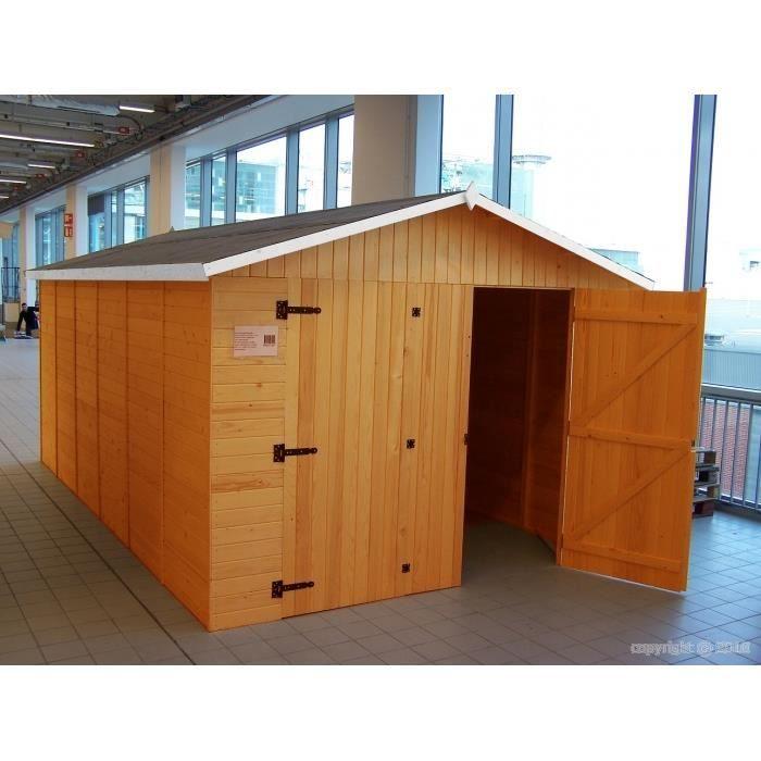 Garage en bois m 13m2 achat vente garage garage en bois - Garage bois discount ...