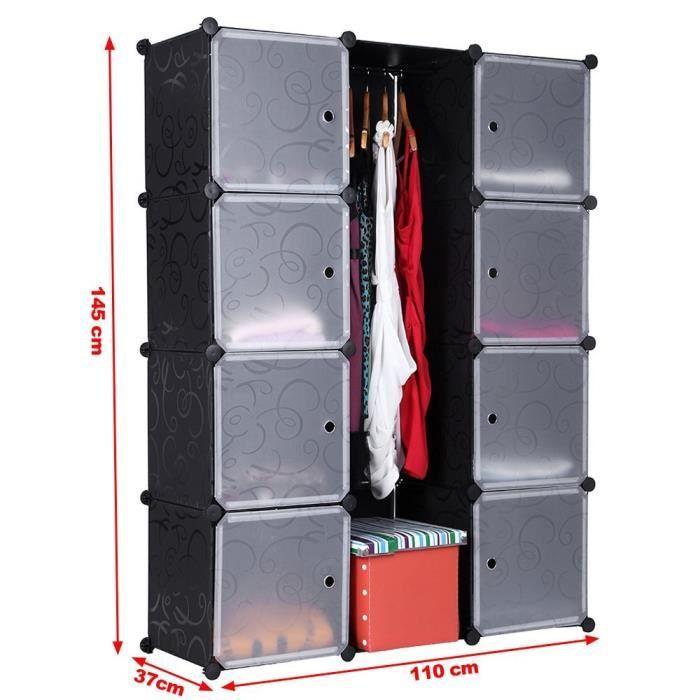 Armoire rangement etagere achat vente armoire de chambre armoire rangemen - Cdiscount armoire de rangement ...