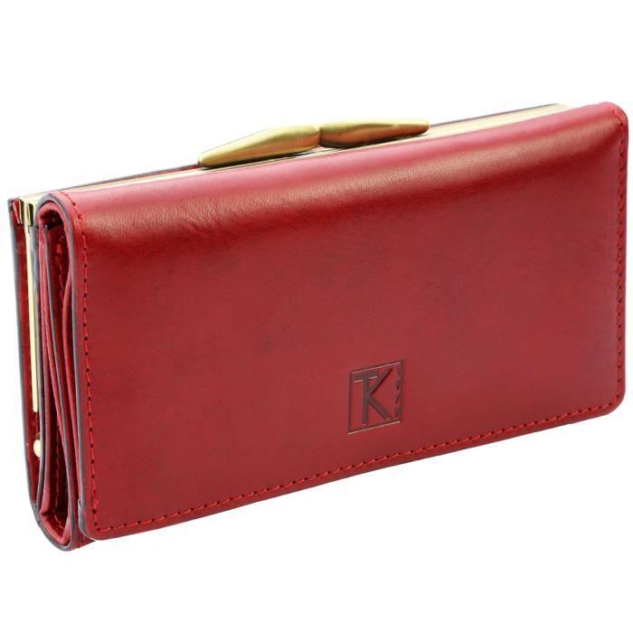 petit compagnon femme portefeuille rouge en c achat vente portefeuille petit compagnon. Black Bedroom Furniture Sets. Home Design Ideas