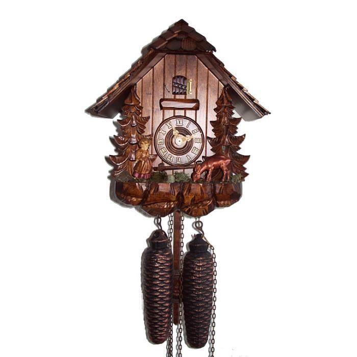 pendule coucou maison de la for t noire chevreuil. Black Bedroom Furniture Sets. Home Design Ideas