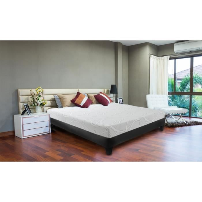 neorev matelas confort gel 140x190 cm mousse equilibr 60kg m3 2 personnes achat. Black Bedroom Furniture Sets. Home Design Ideas
