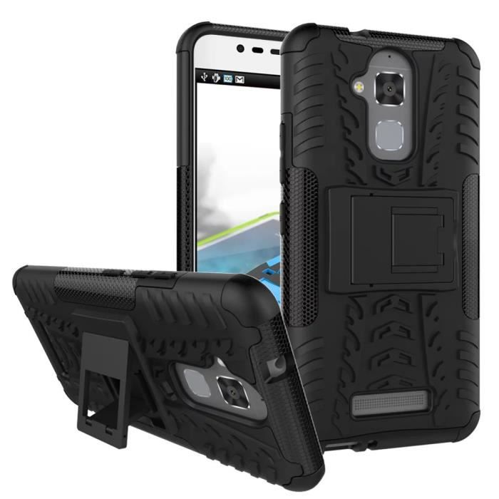 pour asus zenfone 3 max zc520tl 5 2 coque etui housse armor avec support antichocs video. Black Bedroom Furniture Sets. Home Design Ideas