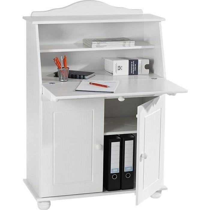 bureau secr taire david lasur blanc achat vente bureau dimensions l x h x p 82 x. Black Bedroom Furniture Sets. Home Design Ideas
