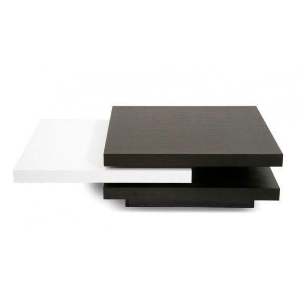 Citizen table basse bois laqu blanc achat vente - Table basse relevable en bois ...