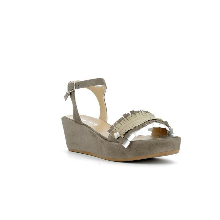 SANDALE - NU-PIEDS Sandales compensées cuir femme ADIGE - ADAL