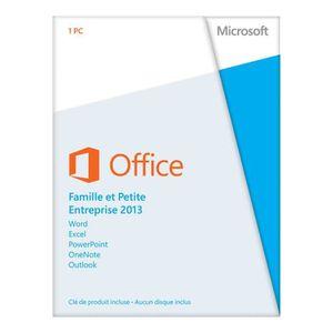 LOGICIEL À TÉLÉCHARGER Microsoft Office Famille & Petite Entreprise 2013