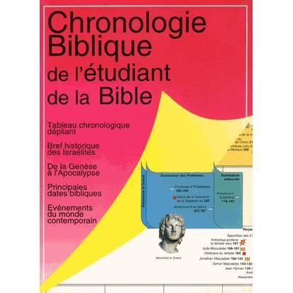 chronologie biblique de l 39 tudiant de la bible achat vente livre david f payne farel. Black Bedroom Furniture Sets. Home Design Ideas