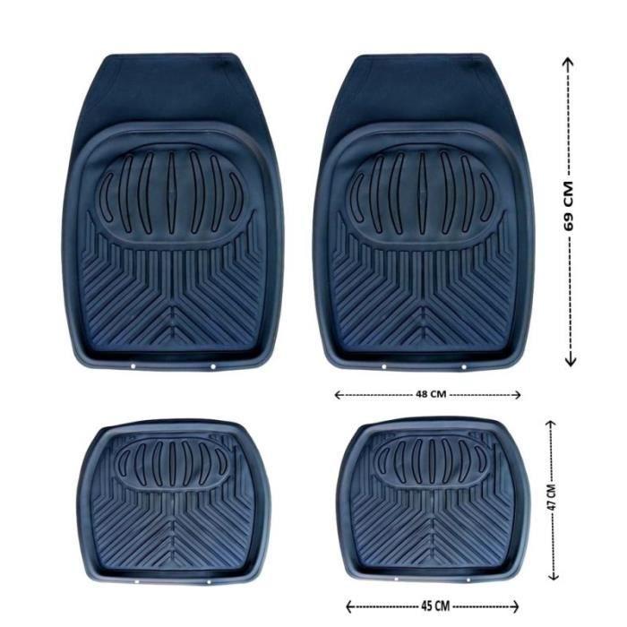 jeu de tapis de voiture noirs universels avant arriere pour renault laguna megane scenic clio. Black Bedroom Furniture Sets. Home Design Ideas