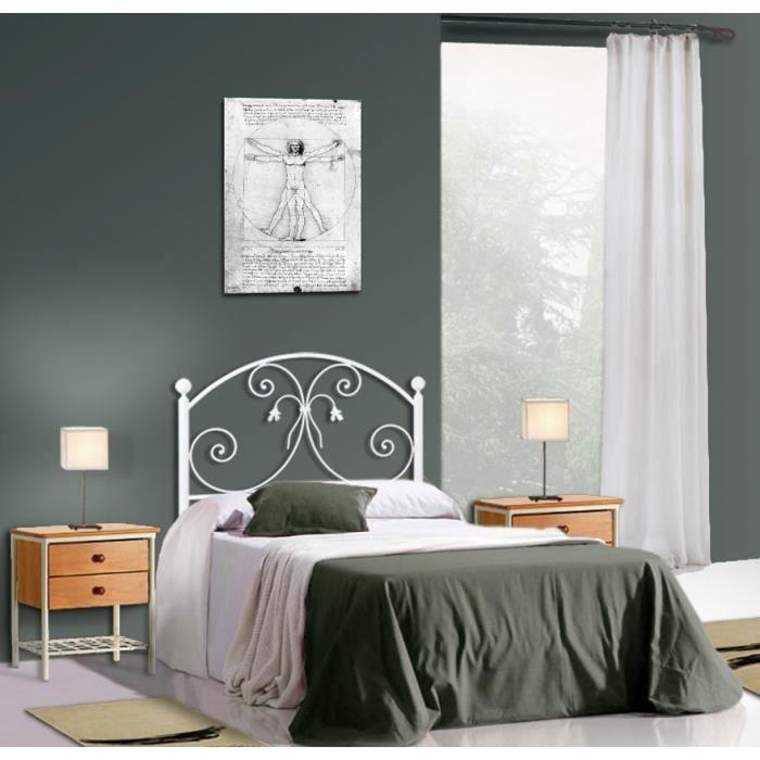 t te de lit en fer forg mod le louhans achat vente t te de lit cdiscount. Black Bedroom Furniture Sets. Home Design Ideas