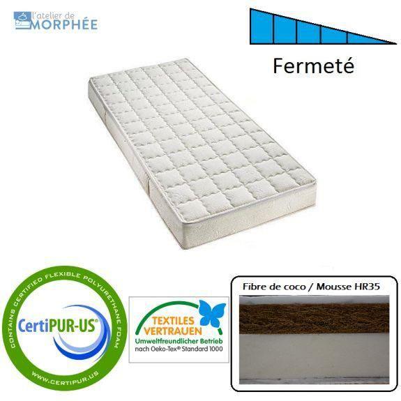 matelas 90x140 enfant avec fibre de coco naturelle achat vente matelas b b 3863349207311. Black Bedroom Furniture Sets. Home Design Ideas