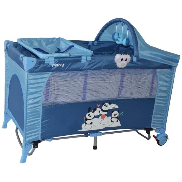 lit parapluie panda bleu 11 accessoires achat vente lit pliant 2009967406311 cdiscount. Black Bedroom Furniture Sets. Home Design Ideas