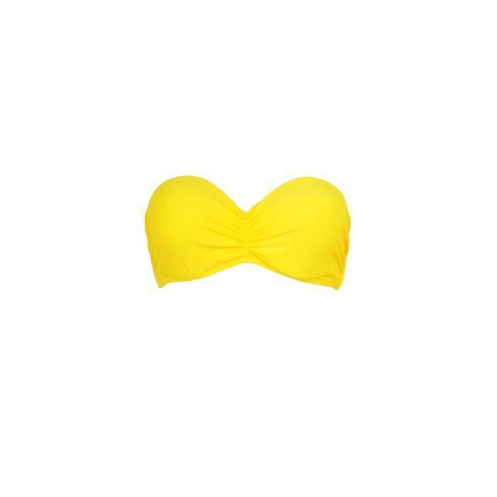 mon bandeau bikini maillot de bain jaune haut jaune achat vente maillot de bain cdiscount. Black Bedroom Furniture Sets. Home Design Ideas
