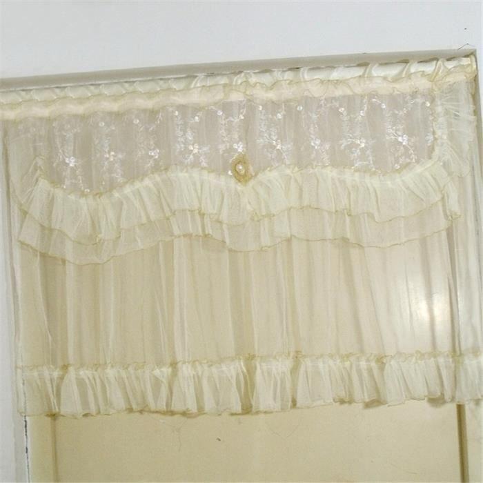 rideau court en dentelle pour fen tre et porte achat vente rideau de porte les soldes sur. Black Bedroom Furniture Sets. Home Design Ideas