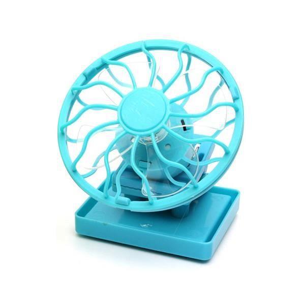 mini ventilateur solaire portable avec clip casquette bleu. Black Bedroom Furniture Sets. Home Design Ideas