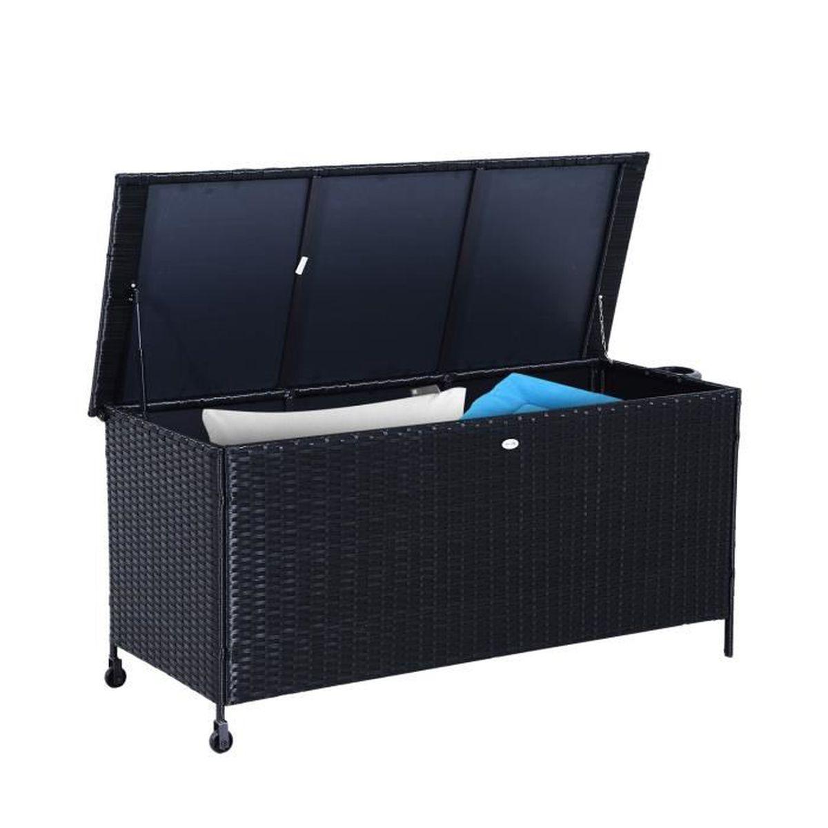 coffre de jardin avec roulette achat vente coffre de jardin avec roulette pas cher cdiscount. Black Bedroom Furniture Sets. Home Design Ideas
