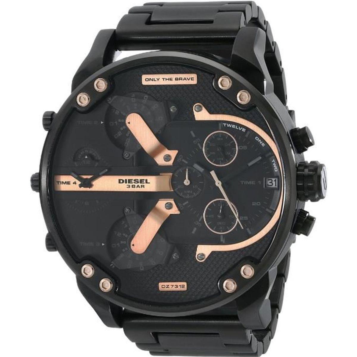 diesel montre chronographe quartz dz7312 homme noir chic achat vente montre cdiscount. Black Bedroom Furniture Sets. Home Design Ideas