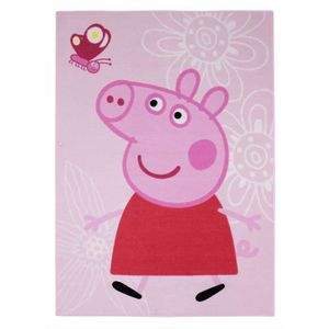 TAPIS PEPPA PIG Tapis Enfant Papillon 95x133cm