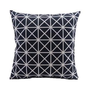 coussin canape noir et blanc achat vente coussin canape noir et blanc pas cher cdiscount. Black Bedroom Furniture Sets. Home Design Ideas
