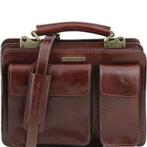ATTACHÉ-CASE Tuscany Leather - Serviette cuir- Marron - Homme