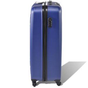 SET DE VALISES Kit valise à roulette Dunlop bleue 45/56/65 cm