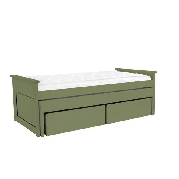 lit gigogne 90 x 200 cm tiroirs 2 matelas achat vente lit gigogne cdiscount. Black Bedroom Furniture Sets. Home Design Ideas