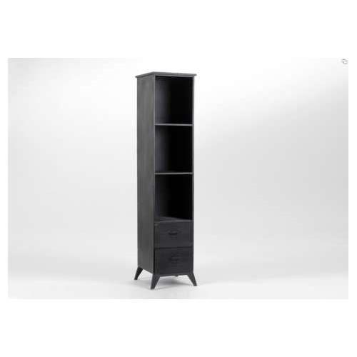 etag re industrielle noire en colonne. Black Bedroom Furniture Sets. Home Design Ideas