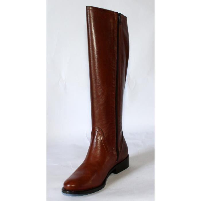 bottes cavalières femme cuir noir