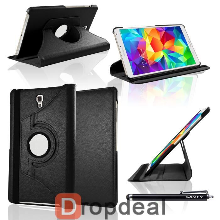 Housse coque luxe 360 galaxy tab s 8 4 noir prix pas for Housse galaxy tab s