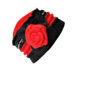 chapeaux b ret femme youcef rouge rouge achat vente. Black Bedroom Furniture Sets. Home Design Ideas