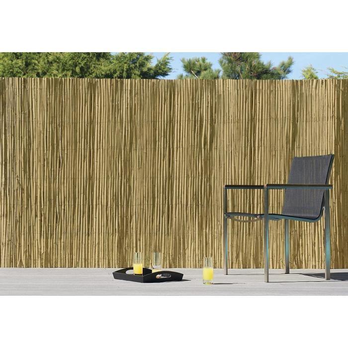 Brise vue roseau 1x 3 m achat vente cl ture grillage brise vue roseau 1x 3 m cdiscount for Cloture jardin roseau