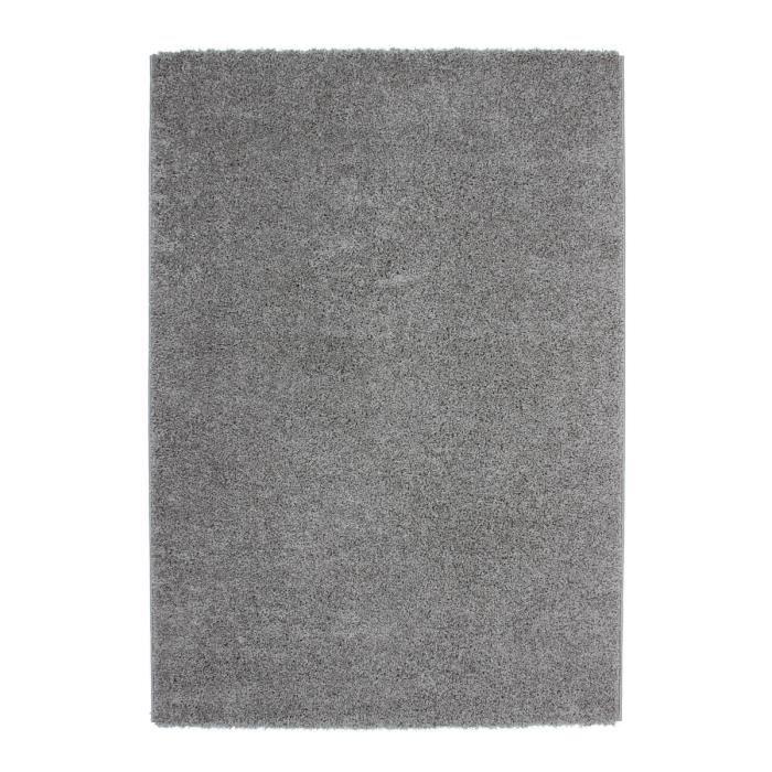 Tapis shaggy uni gris 30 mm 190x280 cm achat vente - Tapis shaggy gris 200x290 ...