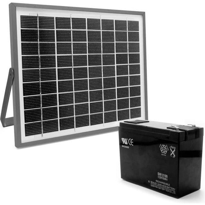 Avidsen kit d 39 alimentation solaire 654312 pour for Portail electrique solaire