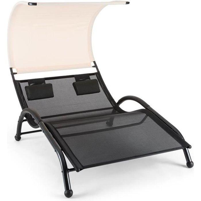 Blumfeldt dandyland double transat bascule transat pour for Chaise longue pour 2 personnes