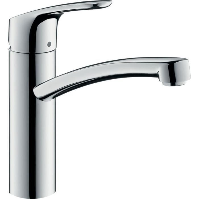 Hansgrohe focus eco c3 mitigeur vier chrom achat for Robinetterie evier cuisine