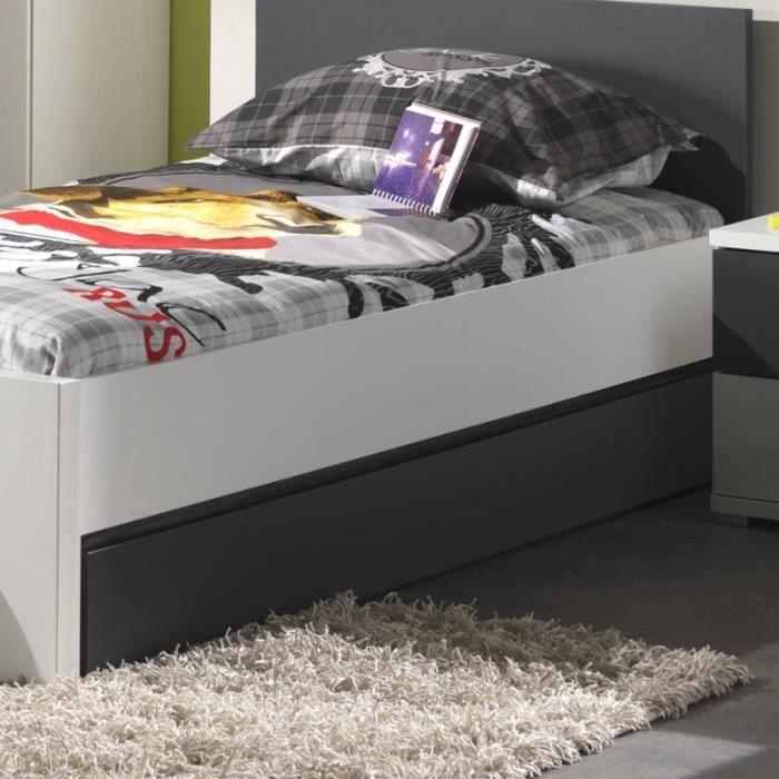 paris prix tiroir de lit enfant josh blanc gris achat vente tiroir de lit paris prix. Black Bedroom Furniture Sets. Home Design Ideas