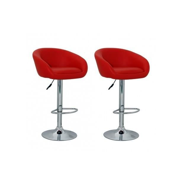 Superbe tabouret design lounge lot de 2 achat vente tabouret de bar rou - Tabouret de bar lounge ...