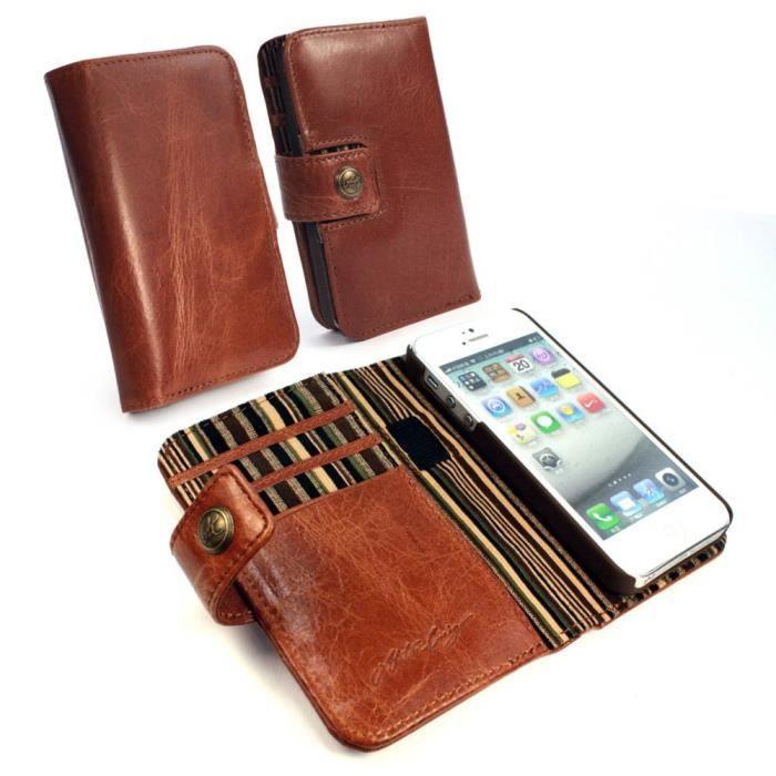 etui portefeuille cuir marron vintage iphone 6 achat vente etui cuir v ritable marron prix. Black Bedroom Furniture Sets. Home Design Ideas