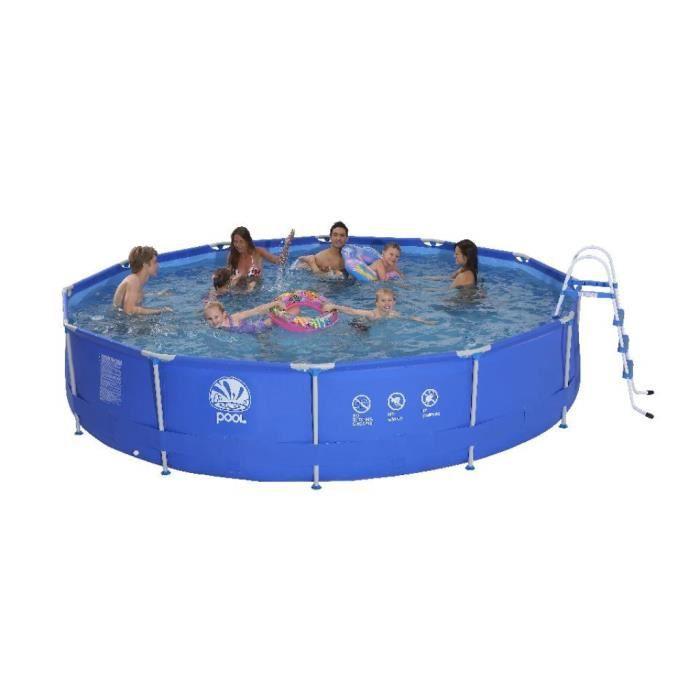 Piscine ronde avec armature en acier achat vente piscine piscine ronde avec armature for Achat piscine acier