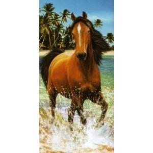 SERVIETTE DE PLAGE Serviette de plage cheval