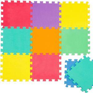 PUZZLE TAPIS PUZZLE à Carreaux Multicolores jeu pour enfa