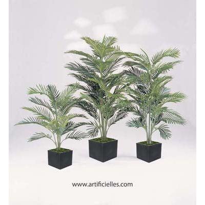 Palmier areca artificiel en pot h 90 cm 17 supe achat for Vente palmier artificiel