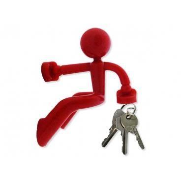 bonhomme range cl s rouge accroche cl clef porte clef achat vente armoire boite a cl. Black Bedroom Furniture Sets. Home Design Ideas