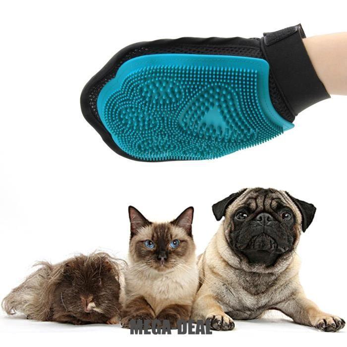 Mega deal gant de massage pour chien toilettage glove - Gant pour poil de chat ...